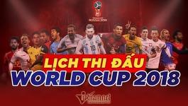 Lịch thi đấu trận chung kết World Cup 2018