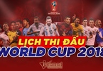 Lịch thi đấu vòng 1/8 World Cup 2018
