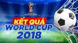 Kết quả bóng đá World Cup 2018 hôm nay 24/6