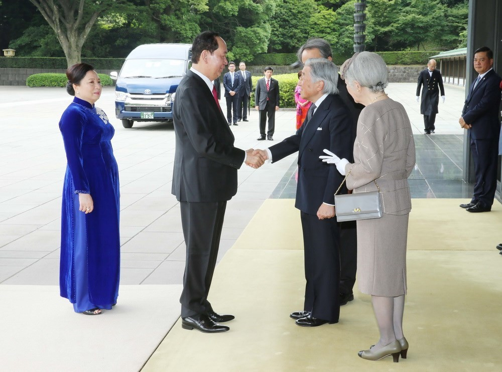 Chủ tịch nước hội kiến Nhà vua Nhật Bản Akihito