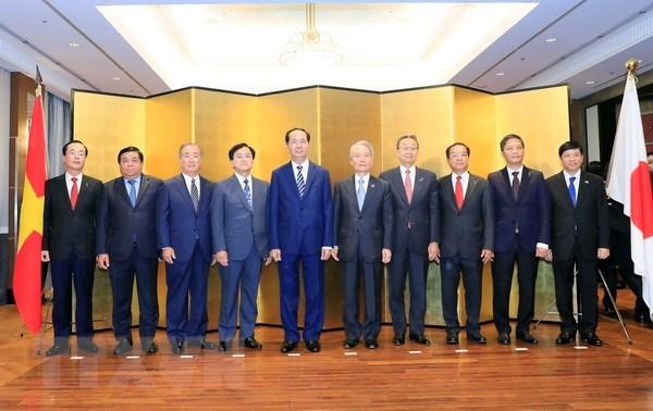Chủ tịch nước đối thoại với các tập đoàn kinh tế lớn của Nhật Bản