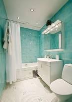 Trang trí phòng tắm siêu dịu mát trong ngày hè với gam màu ngọc lam tinh tế
