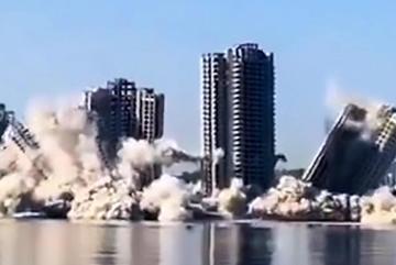 Xem đánh sập tòa cao ốc hàng chục tầng chỉ trong tích tắc