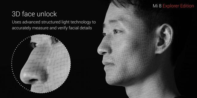 'iPhone X của TQ' - Xiaomi Mi 8 Explorer Edition mở khóa khuôn mặt 3D