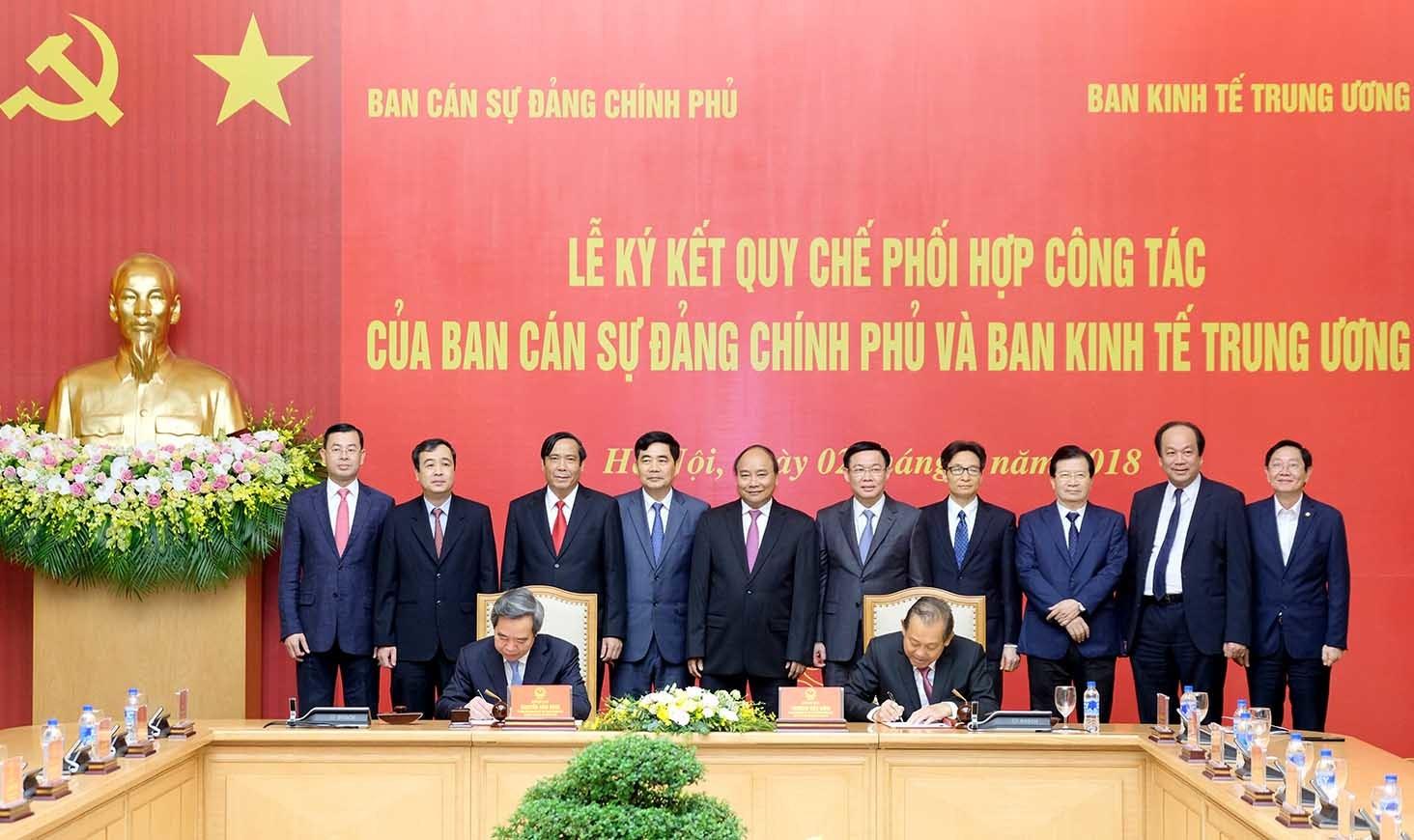 Ban Kinh tế TƯ,Thủ tướng Nguyễn Xuân Phúc,Nguyễn Văn Bình