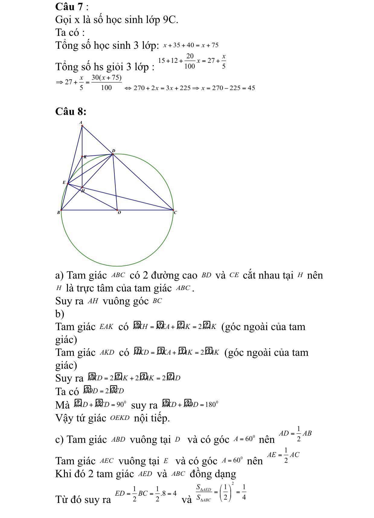 Đáp án môn toán,Thi lớp 10,Tuyển sinh lớp 10
