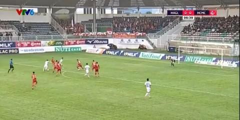 HAGL 0-0 TP HCM: Hồng Duy sút bóng trúng xà ngang