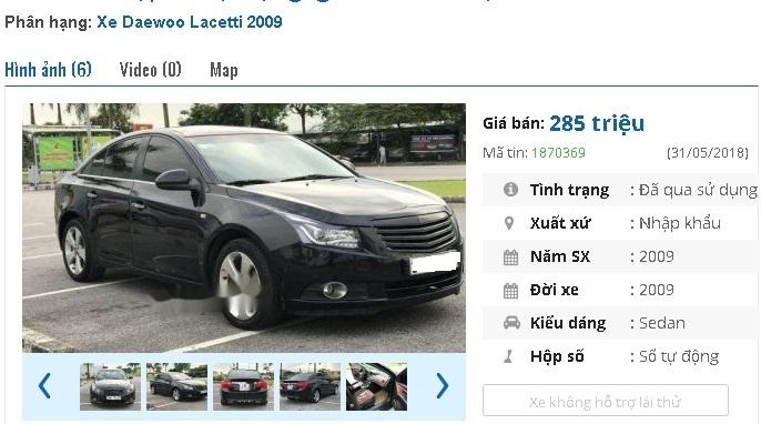 Những chiếc ô tô sedan cũ số tự động này đang rao giá 200 triệu tại Việt Nam