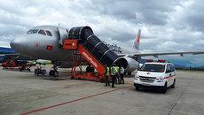 Máy bay hạ cánh khẩn cấp xuống sân bay Đà Nẵng để cứu khách