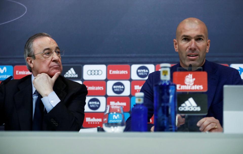 Zidane,Real Madrid,De Gea,Hazard,Perez
