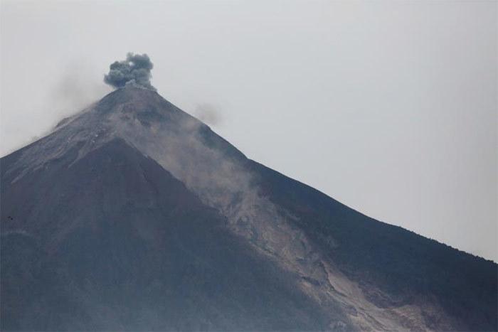 Guetemala,núi lửa Fuego,núi lửa phun trào,cảnh tang thương