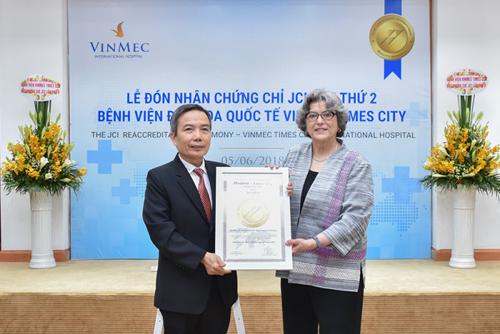 Vinmec Times City nhận chứng chỉ chất lượng JCI lần 2