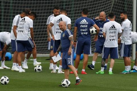 Argentina tập luyện ở Joan Gamper
