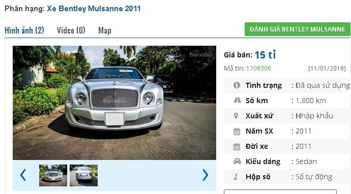 Chiếc ô tô cũ này đang rao bán giá cao ngất 23,8 tỷ ở Việt Nam