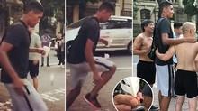 Sao MU đá cầu với fan hâm mộ trên đường phố Hà Nội