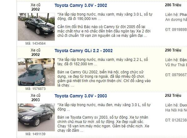Xe sedan cũ 'sang chảnh' một thời giá 300 triệu