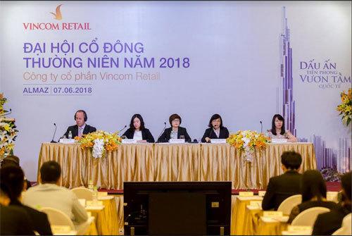 Doanh thu Vincom Retail đạt 5.518 tỷ đồng năm 2017