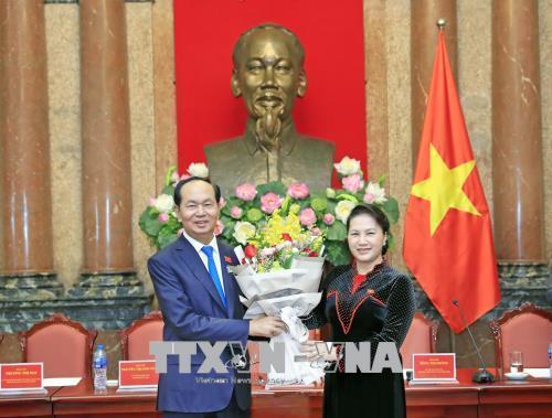 Chủ tịch nước gặp mặt các nữ ĐBQH khóa 14