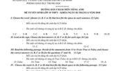 TP.HCM công bố đáp án môn tiếng Anh lớp 10