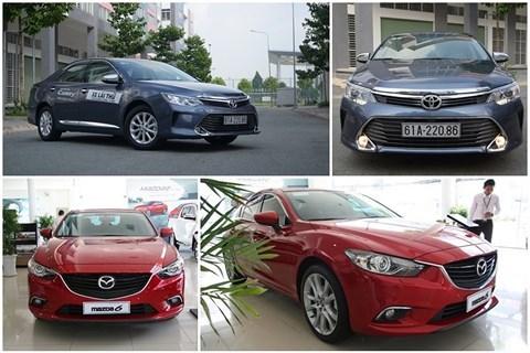 Cùng phân khúc, chọn Mazda 6 hay Toyota Camry?
