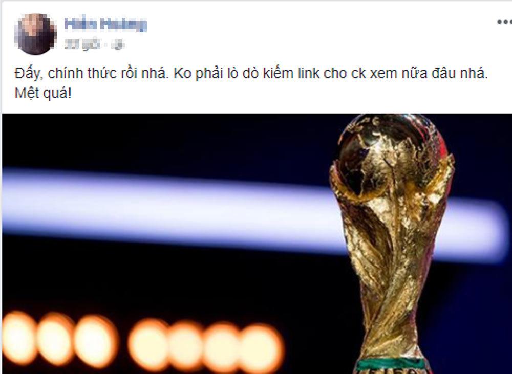 Phản ứng bất ngờ của người hâm mộ khi VTV mua được bản quyền World Cup