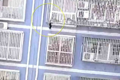 Xem 'người nhện' Trung Quốc leo 5 tầng nhà cứu người