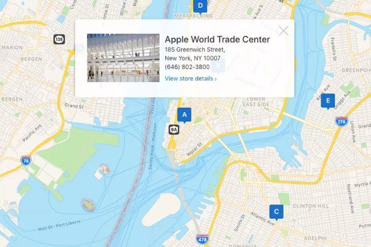 Apple,Bản đồ
