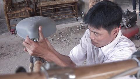 Xe đạp tre 'made in Trà Vinh