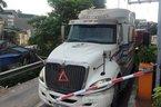 Triệu tập 2 lái xe tông gãy barie trạm BOT Tân Đệ