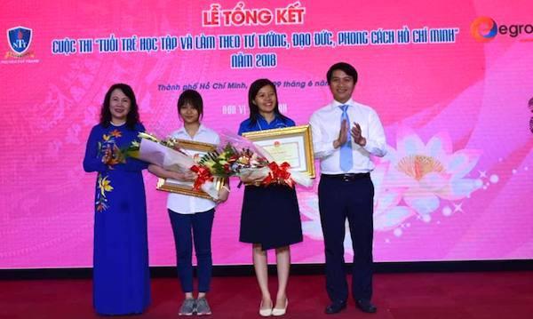 Học sinh lớp 11 đoạt giải nhất cuộc thi học tập và làm theo tư tưởng, đạo đức, phong cách Bác Hồ