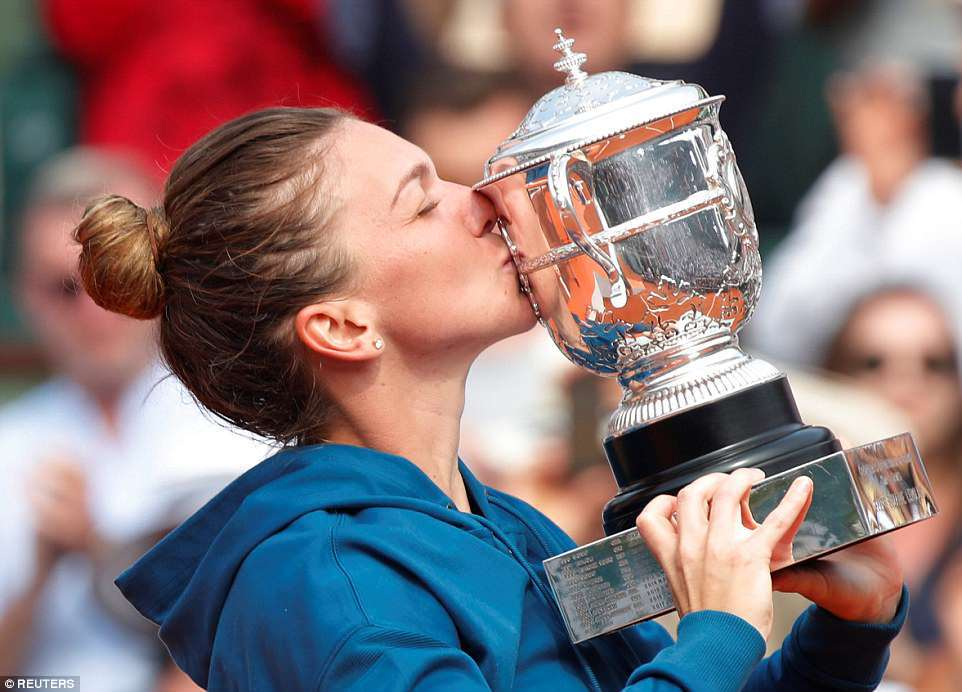 Simona Halep,Sloane Stephen,Roland Garros 2018