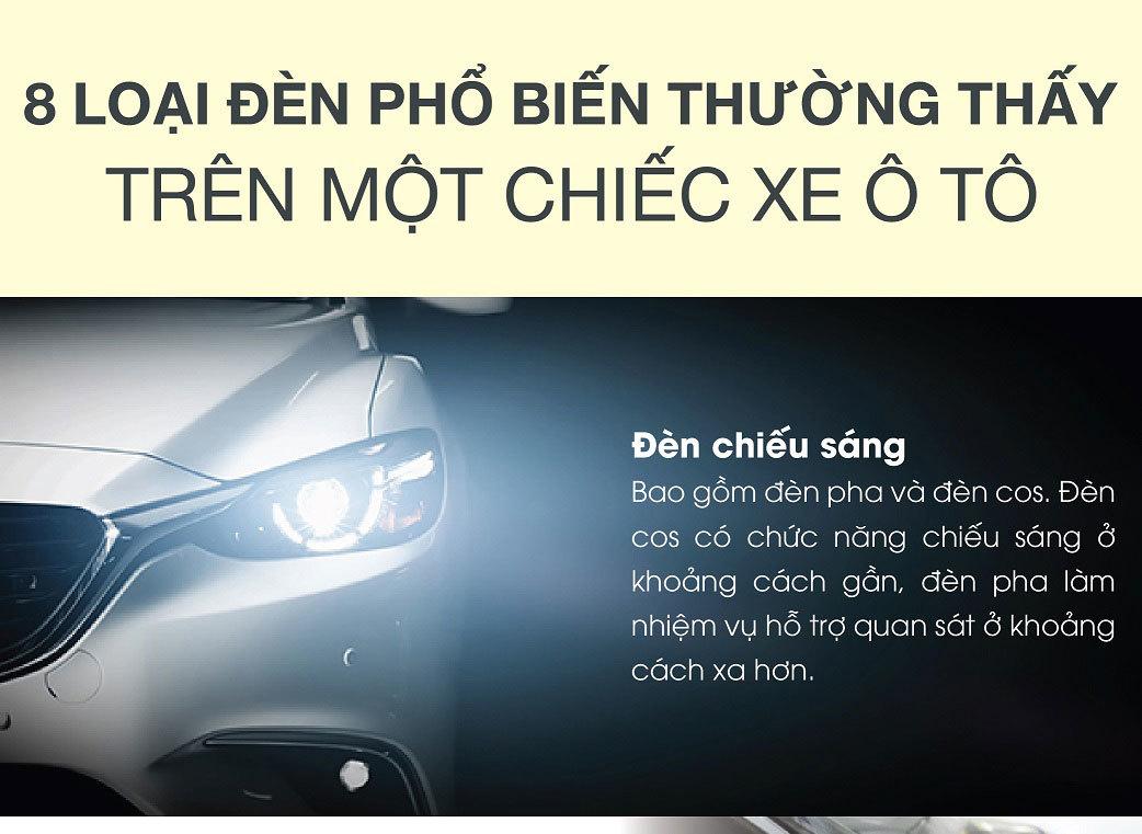 8 loại đèn phổ biến thường thấy một chiếc xe ô tô