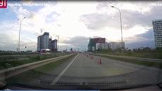 Nhiều ô tô đỗ xe đột ngột giữa đường cao tốc, gây bất ngờ cho xe sau