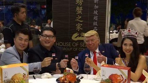 """bản sao Kim Jong Un, Donald Trump dự """"thượng đỉnh cua sốt ớt"""" ở Singapore"""