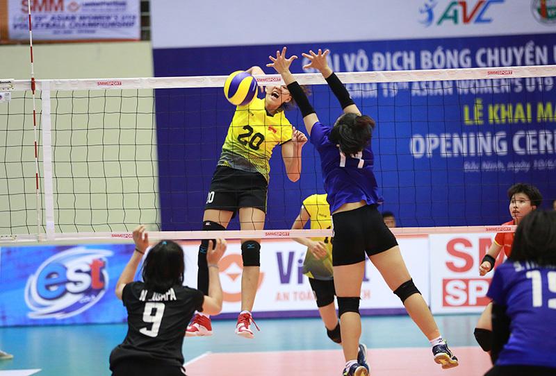 Tuyển nữ Việt Nam thua tiếc nuối Thái Lan ở giải bóng chuyền U19 châu Á