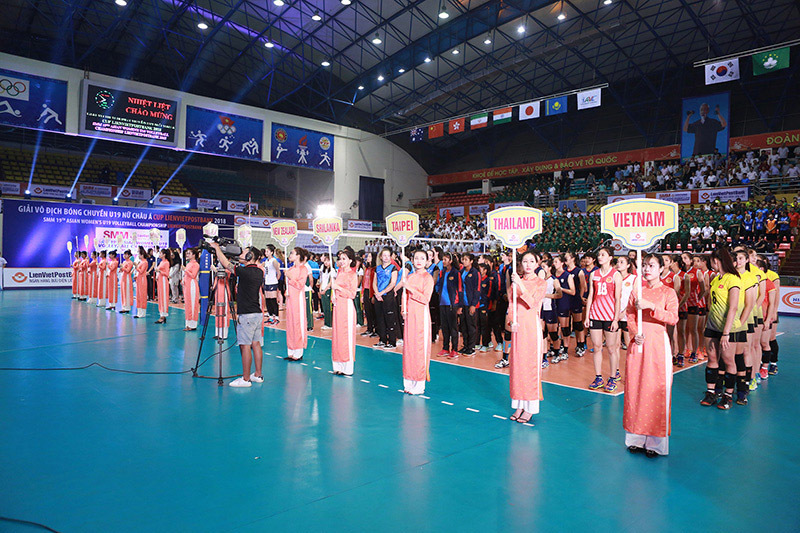 giải bóng chuyền U19 châu Á 2018