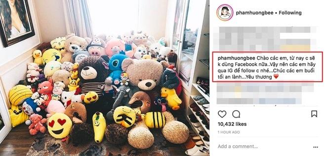 Hoa hậu Phạm Hương tuyên bố sẽ khóa Facebook cá nhân