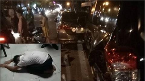 Tài xế siêu xe BMW tông xe liên hoàn rồi hành động kỳ quặc