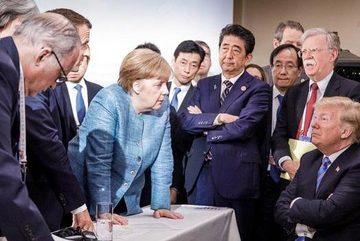 Những bức ảnh đắt giá, lột tả sự đối đầu tại thượng đỉnh G7