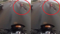 Đang đi xe máy bị lốp ô tô văng vào đầu tử vong