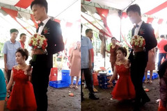 """Đám cưới của cặp đôi """"đũa lệch"""" gây xôn xao cộng đồng mạng"""