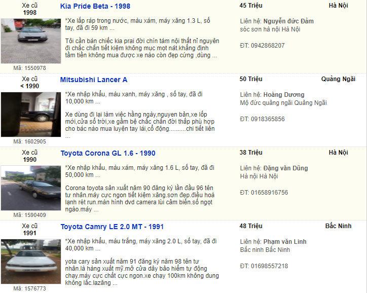 xe cũ,ô tô cũ,Toyota Camry