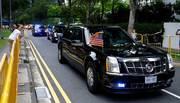"""Ông Trump khoe Kim Jong Un chiếc xe """"Quái thú"""""""