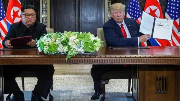 hội nghị thượng đỉnh Mỹ-Triều,Kim Jong Un,tuyên bố chung,Tổng thống Donald Trump