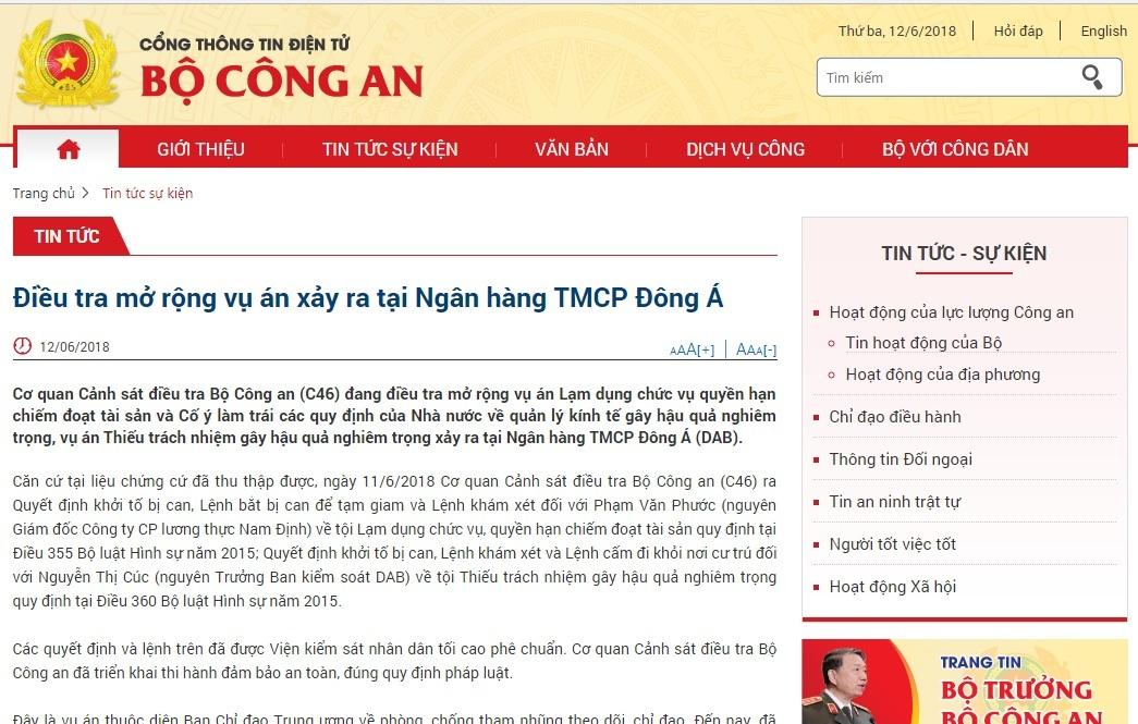 Ngân hàng Đông Á,Vũ nhôm,Phan Văn Anh Vũ,cố ý làm trái
