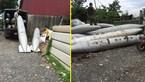 Chở vật thể lạ nghi giống bom: Công an tạm giữ hai xe tải