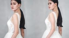 Thanh Ngân khiến fan tò mò khi tung ảnh diện váy cô dâu