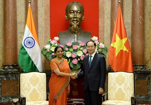 Ấn Độ,Việt - Ấn,Chủ tịch nước Trần Đại Quang,Trần Đại Quang,quốc phòng