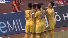 Tuyệt phẩm volley hạ Đặng Văn Lâm giúp SLNA thắng giải hạn