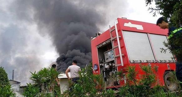 cháy,cháy lớn,cháy khu công nghiệp,Phú Thọ,hỏa hoạn